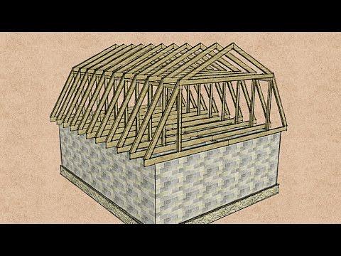 Как сделать ломаную крышу своими руками пошаговая инструкция с фото