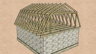 видео Конструкция мансардной крыши