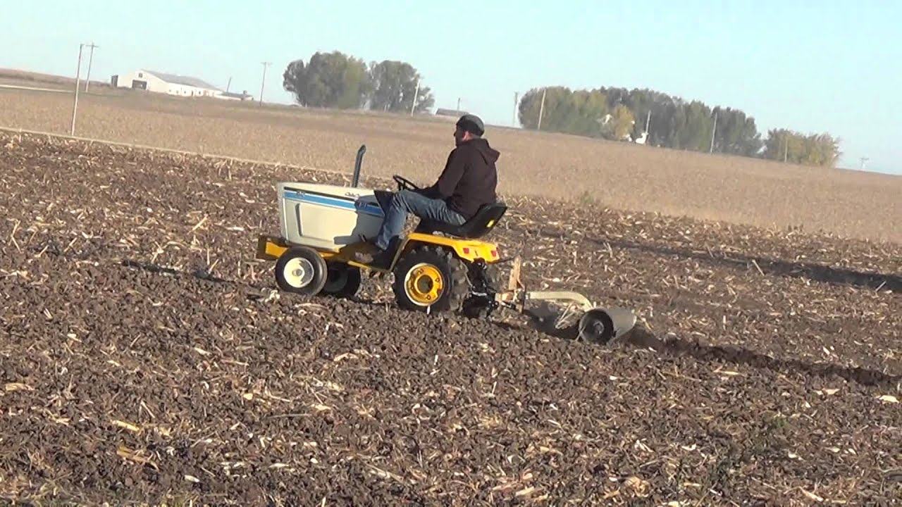 Bc Ii Garden Tractor Plow Day Video 1 Beemer Strikes Out Youtube