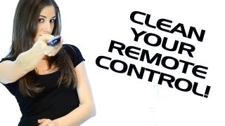 How to Clean a Remote Control: Electronics Cleaning Essentials: Easy Cleaning Ideas (Clean My Space)