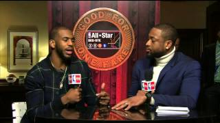 Chris Paul Interview With Dwyane Wade | February 13, 2015 | NBA All-Star Weekend 2015
