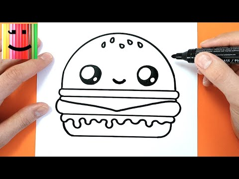 HOW TO DRAW A CUTE BURGER