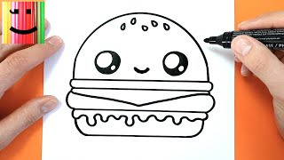 COMMENT DESSINER UN HAMBURGER KAWAII