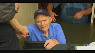 News Crews Help Rescue Trapped 86-Year-Old From Texas Flooding