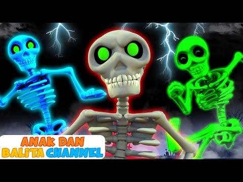 Lima Tengkorak Berjalan | Kumpulan Lagu Anak-Anak Edisi Halloween | Anak dan Balita Channel