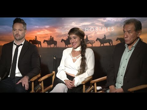 Backstage With Q'orianka Kilcher, Wes Studi & Scott Cooper For HOSTILES