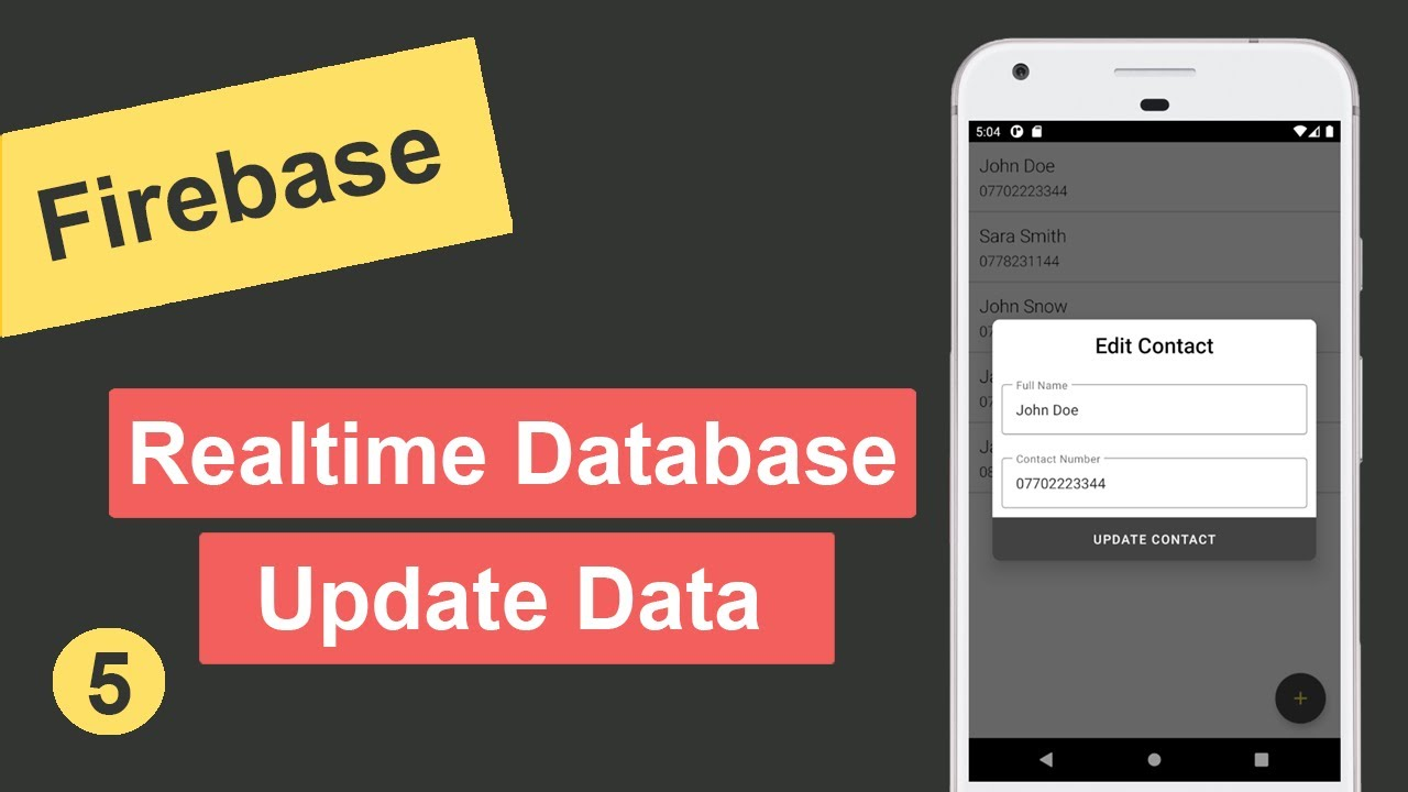 Update Data in Firebase Realtime Database in Android Studio #5