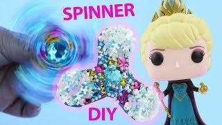 FROZEN ELSA FIDGET SPINNER DIY Custom with No Ball Bearings Paint SnowFlakes