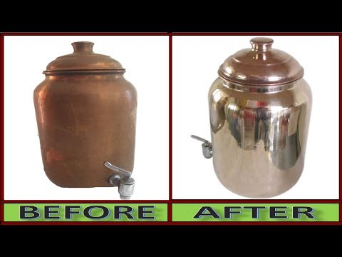 World Record History Of Copper Vessel Cleaning || Miracle Magic Copper Cleaning in 1-Minute