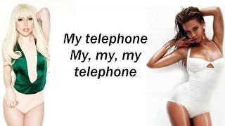 Lady Gaga - Telephone ft. Beyoncé  ( Lyrics )