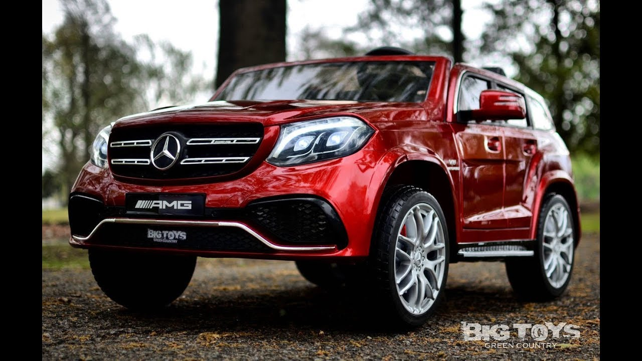 Mercedes Gls 63 Ride On Suv Toddler Car With 4 Wheel Drive Toys Green Country