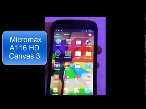 Micromax A116 Canvas HD specs- Micromax canvas 3 review
