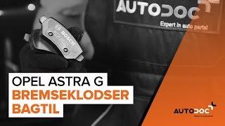 Skift Bremseklods OPEL ASTRA G Hatchback (F48_, F08_) - online gratis video