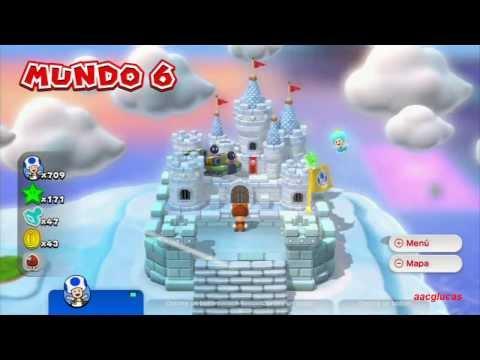 Guia Super Mario 3D World 100% (5 estrellas) Mundo 6