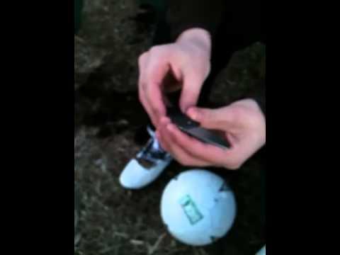 Poping a soccer ball