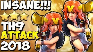 INSANE VALKYRIE ATTACK: TH9 STRONG WAR ATTACK STRATEGY 2018 | Clash of Clans