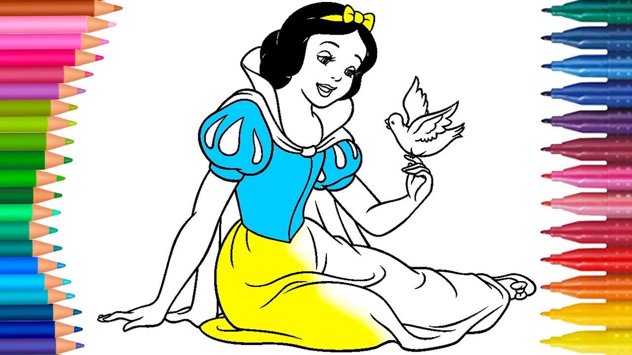 çizgi Film Ve Masal Karakteri Pamuk Prenses Boyama Sayfası Minik Eller Boyama Kitabı