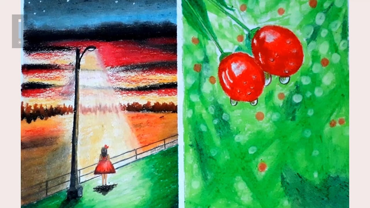 Vẽ tranh phong cảnh bằng sáp màu dầu với Hung Art - @Vetranhart