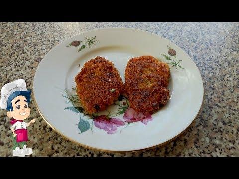 Картофельные котлеты с колбасой и сыром из пюре рецепт  пошагово на сковороде