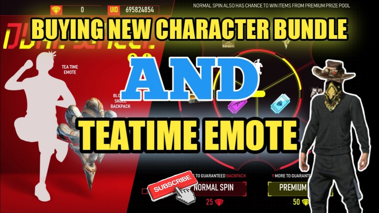 Buying all new characters CLU, Bundle and Tea Time Emote   New Top Up event