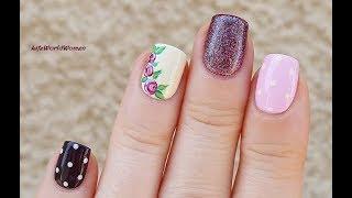 Romantic POLKA DOT & ROSE NAIL ART thumbnail