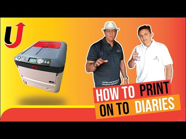 How to print onto diaries
