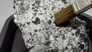 Meteorite MASLYANINO [IAB] silicate iron - ETCHING SLICE