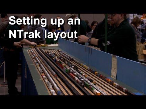 Setting up an NTrak layout - timelapse - YouTube