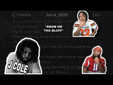 HE DID IT AGAIN!! ✊🏽✊🏾✊🏿🧠|J.Cole - SNOW ON THA BLUFF | REACTION