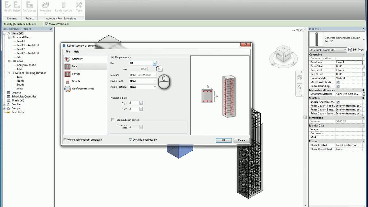 Revit Extensions Column Rebars A How To Guide