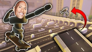 THE ROCK VS. SKATEBOARD! (Turbo Dismount)