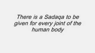 Hadith - Saying of the Holy Prophet Mohammad (saw) - Sadaqa