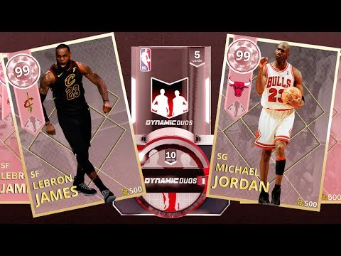 90a1d7e39389 LEBRON JAMES Y MICHAEL JORDAN PINK DIAMOND! PACK OPENING DYNAMIC DUOS!