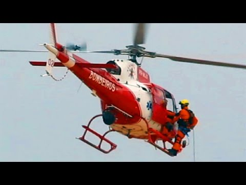 Rapel no helicóptero Eurocopter/HELIBRAS Esquilo AS 350 B2 do Bombeiros de Brasília [SBBR] Canon