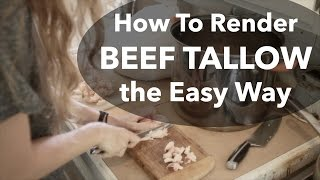 How To Render Beef Tallow the Easy Way - Paleo Cooking Fat! (Day 19 of 30)