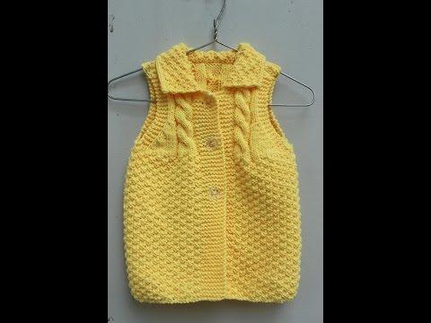Đan áo len cho bé 3-6 tháng phần 1