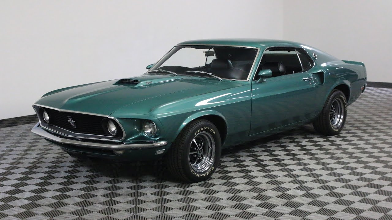 1969 ford mustang green youtube. Black Bedroom Furniture Sets. Home Design Ideas