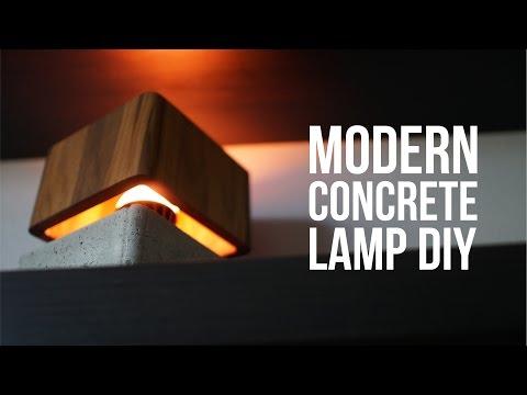 "DIY Modern Concrete Lamp that ""floats"""