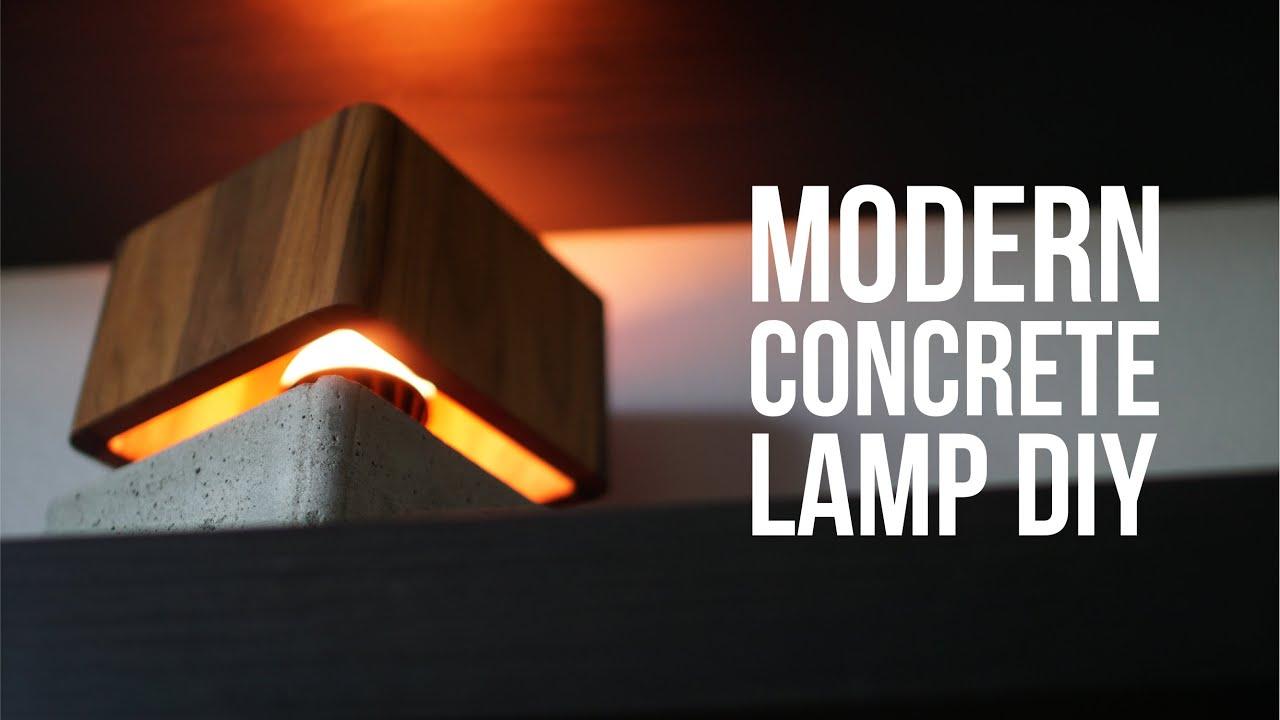 Diy Modern Concrete Lamp That Quot Floats Quot Youtube