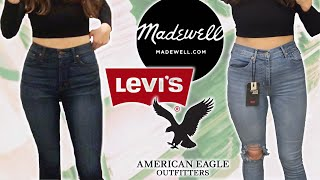 Which brand makes the best Curvy Jean? (Try On // Madewell, Levi's, American Eagle)