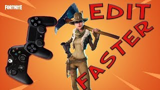 EDIT FASTER ON CONSOLE IN FORTNITE | EDIT AIM ASSIST | Explained | Tutorial