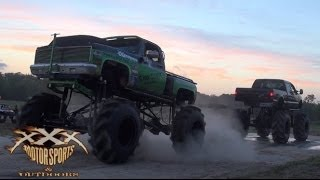 MEGA TRUCK TUG OF WAR at MUD TRUCK MADNESS!!