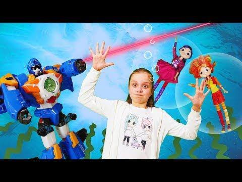 Куклы Сказочный Патруль попали в подводный мир. Видео для девочек. Волшебницы  и Водяной