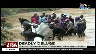 Four people drown after bridge is swept away in Kitui