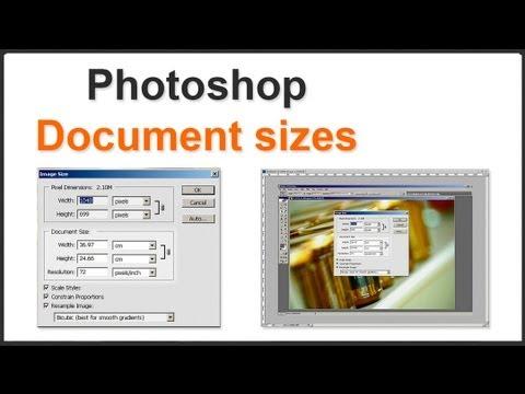 Photoshop Document Sizes
