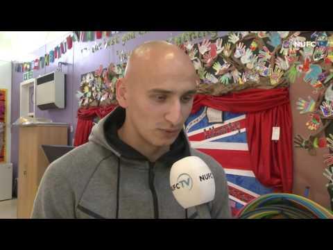 Jonjo Shelvey pays ballboy a surprise visit