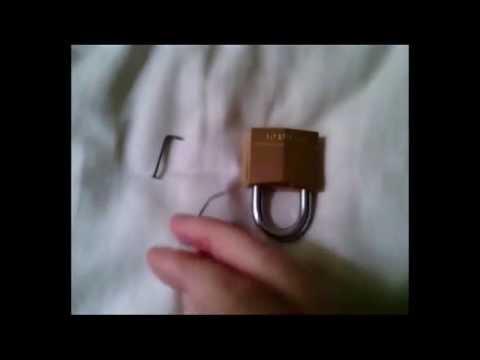 ouvrir un cadenas sans cle avec un trombone et un clou youtube. Black Bedroom Furniture Sets. Home Design Ideas