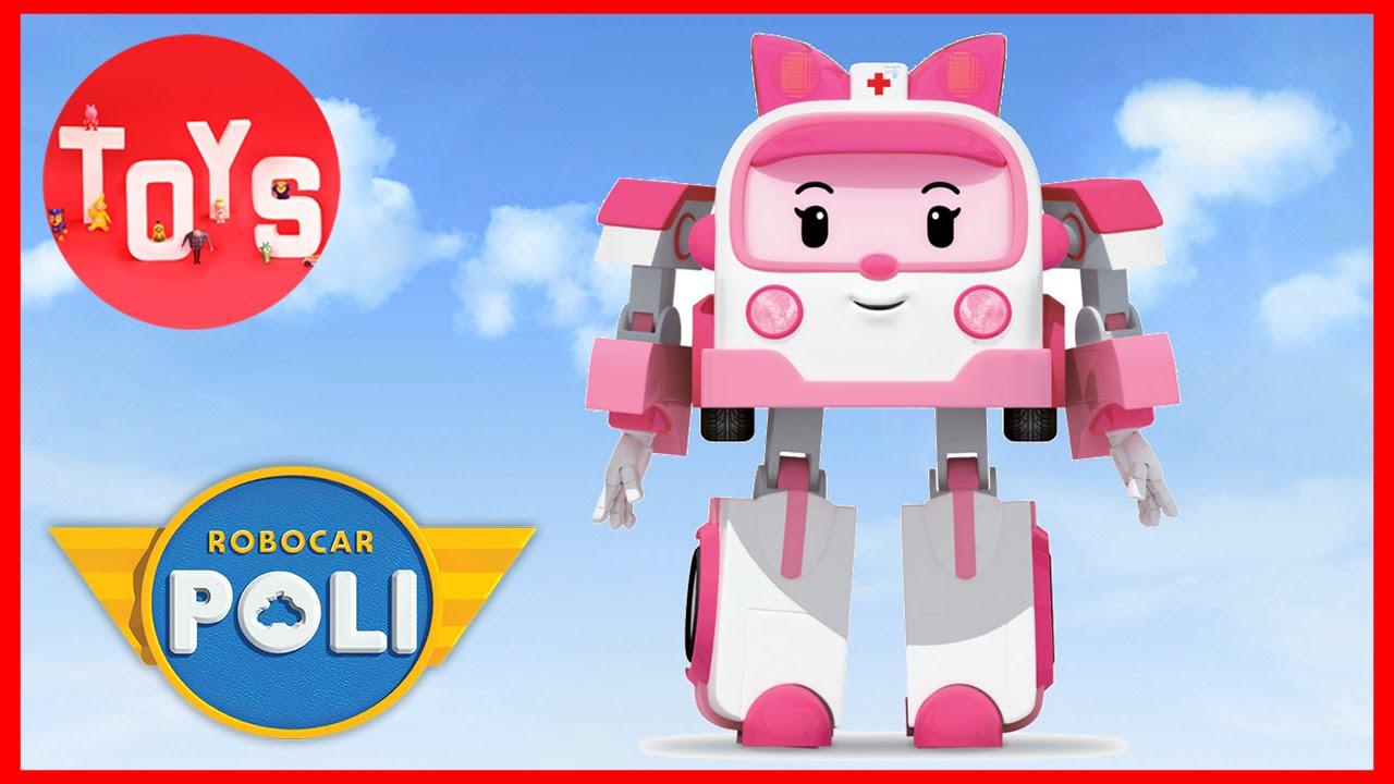 Robocar poli toys amber from robocar poli transformer toy youtube - Robocar poli ambre ...