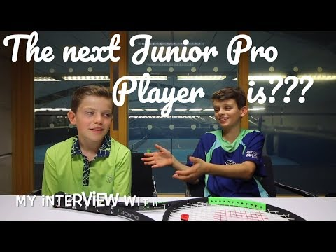 #95 Interviewing our next junior tennis pro - do you know him?? - tB 2017