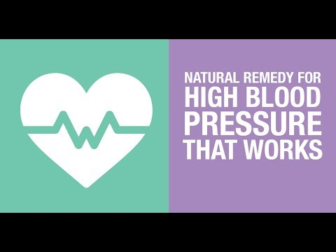 Natural remedy for high blood pressure that Works